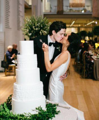 Tall wedding cake, 5 tier wedding cake, White wedding cake, Texture wedding cake, Fondant wedding cake, Leaf wedding cake, Greenery wedding cake, Art Institute wedding cake, wedding cake, gorgeous wedding cake, Chicago wedding cake, Chicago wedding, wedding, modern wedding cake, modern wedding, Amy Beck Cake Design wedding cake, Custom wedding cake, Specialty cake, specialty wedding cake, custom cake