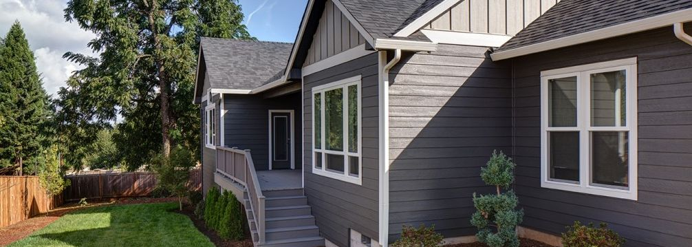 ranch, house with siding, white trim