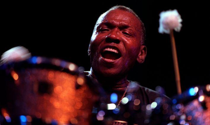 Elvin Jones at the Detroit Jazz Festival, 1999