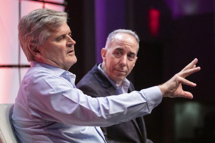 Steve Case (left), with Chris Rizik at Detroit Homecoming VI in September.