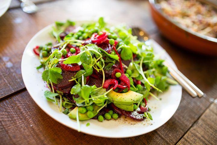 spring peas & beets salad