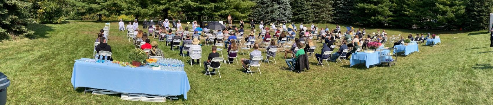 Class of 2020 Graduation Ceremony outdoors in September 2020