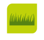 Computer image of green grass on organic compost page