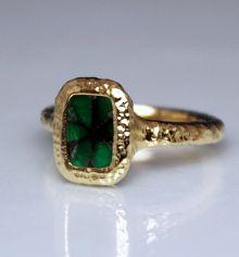 Gold & Green Ring