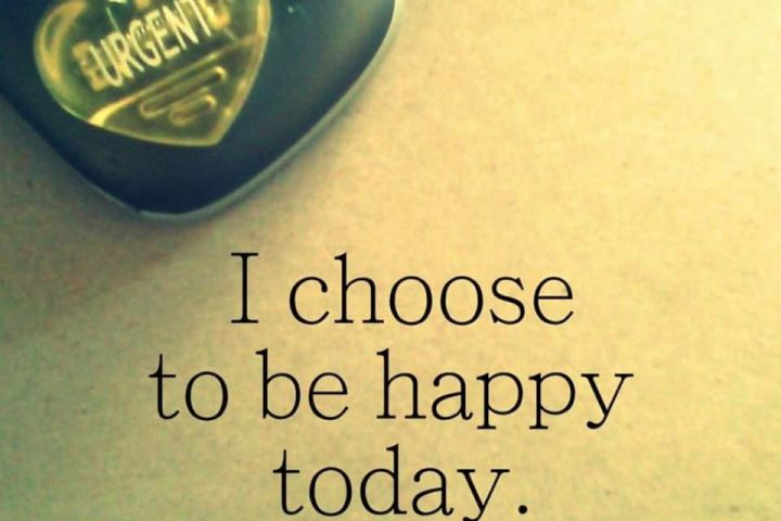 Urgent in the upper corner with the words I choose to be happy today
